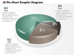 Business Diagram 3d Pie Chart Graphic Diagram PowerPoint Ppt Presentation