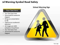 Business Diagram 3d Warning Symbol Road Safety Presentation Template