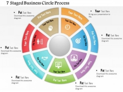 Business Diagram 7 Staged Business Circle Process Presentation Template