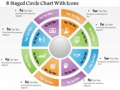 Business Diagram 8 Staged Circle Chart With Icons Presentation Template