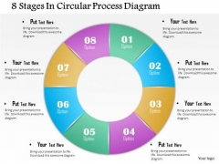 Business Diagram 8 Stages In Circular Process Diagram Presentation Template