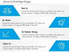 Business Diagram About Us Web Page Design Presentation Template