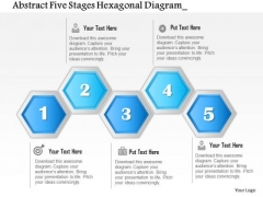Business Diagram Abstract Five Stages Hexagonal Diagram Presentation Template