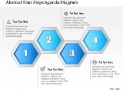 Business Diagram Abstract Four Steps Agenda Diagram Presentation Template