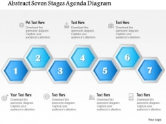 Business Diagram Abstract Seven Stages Agenda Diagram Presentation Template