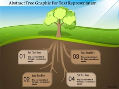Business Diagram Abstract Tree Graphic For Text Representation Presentation Template
