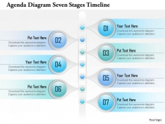 Business Diagram Agenda Diagram Seven Stages Timeline Presentation Template