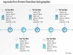 Business Diagram Agenda Five Points Timeline Infographic Presentation Template