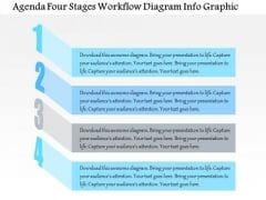 Business Diagram Agenda Four Stages Workflow Diagram Info Graphic Presentation Template