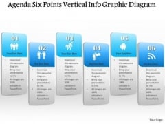 Business Diagram Agenda Six Points Vertical Info Graphic Diagram Presentation Template