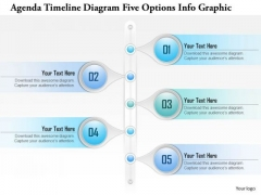Business Diagram Agenda Timeline Diagram Five Options Info Graphic Presentation Template