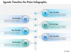 Business Diagram Agenda Timeline Six Point Infographict Presentation Template