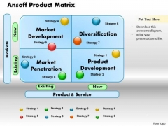 Business Diagram Ansoff Product Matrix PowerPoint Ppt Presentation