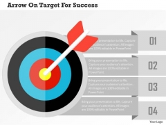 Business Diagram Arrow On Target For Success Presentation Template