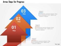 Business Diagram Arrow Steps For Progress Presentation Template