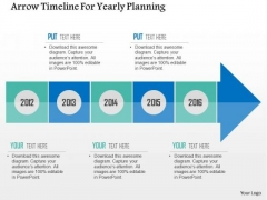 Business Diagram Arrow Timeline For Yearly Planning PowerPoint Templates