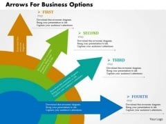 Business Diagram Arrows For Business Options Presentation Template