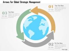 Business Diagram Arrows For Global Strategic Management Presentation Template