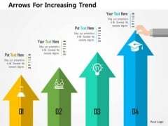 Business Diagram Arrows For Increasing Trend Presentation Template
