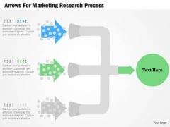 Business Diagram Arrows For Marketing Research Process Presentation Template