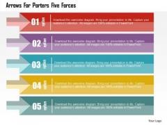 Business Diagram Arrows For Porters Five Forces Presentation Template
