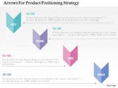 Business Diagram Arrows For Product Positioning Strategy Presentation Template