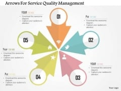 Business Diagram Arrows For Service Quality Management PowerPoint Templates