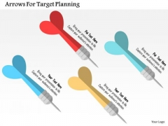 Business Diagram Arrows For Target Planning Presentation Template