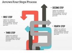 Business Diagram Arrows Four Steps Process Presentation Template