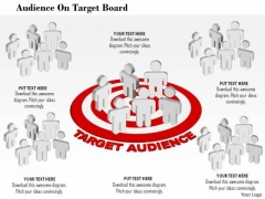 Business Diagram Audience On Target Board Presentation Template