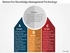 Business Diagram Banner For Knowledge Management Technology PowerPoint Templates