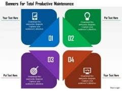 Business Diagram Banners For Total Productive Maintenance Presentation Template