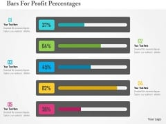Business Diagram Bars For Profit Percentages Presentation Template