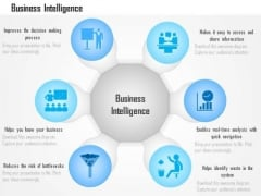 Business Diagram Benefits Advantages Of Business Intelligence Data Analytics Ppt Slide