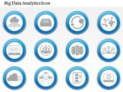 Business Diagram Big Data Analytics Cloud Networking Storage Servers Computing Icon Set Ppt Slide