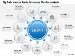 Business Diagram Big Data Sources Sensors Feeds Databases Files For Analysis Ppt Slide