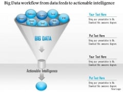 Business Diagram Big Data Workflow From Data Feeds To Actionable Intelligence Ppt Slide