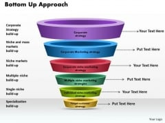 Business Diagram Bottom Up Approach PowerPoint Ppt Presentation
