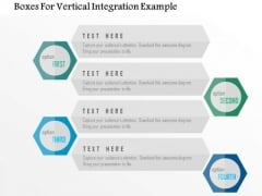 Business Diagram Boxes For Vertical Integration Example PowerPoint Templates