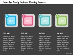 Business Diagram Boxes For Yearly Business Planning Process Presentation Template