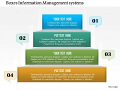 Business Diagram Boxes Information Management Systems Presentation Template