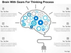 Business Diagram Brain With Gears For Thinking Process Presentation Template