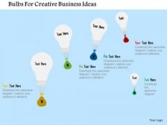 Business Diagram Bulbs For Creative Business Ideas Presentation Template