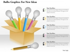 Business Diagram Bulbs Graphics For New Ideas Presentation Template