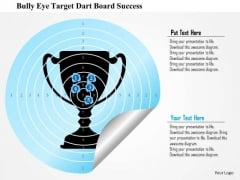 Business Diagram Bulls Eye Target Dart Board Success PowerPoint Template