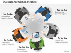 Business Diagram Business Association Meeting Presentation Template