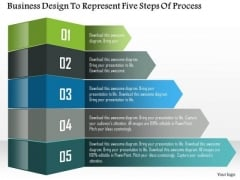 Business Diagram Business Design To Represent Five Steps Of Process Presentation Template