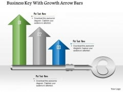 Business Diagram Business Key With Growth Arrow Bars Presentation Template