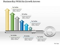 Business Diagram Business Key With Six Growth Arrows Presentation Template