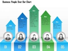 Business Diagram Business People Over Bar Chart PowerPoint Template
